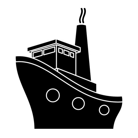 cruise boat isolated icon vector illustration design 向量圖像