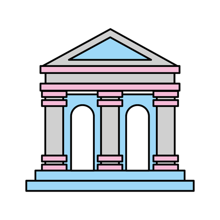 Museum building isolated icon vector illustration design.