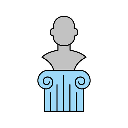 Museum column isolated icon vector illustration design.