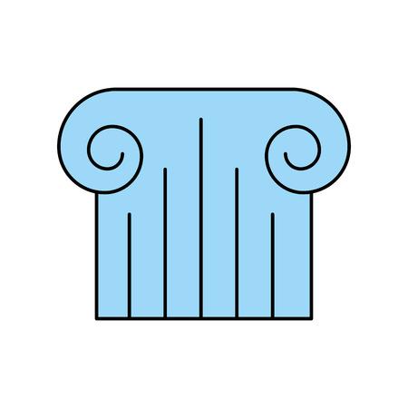 antiquities: Museum column isolated icon vector illustration design.