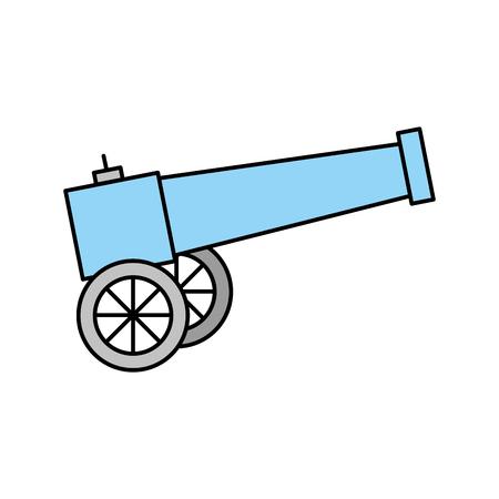 Vecchio cannone isolato illustrazione vettoriale illustrazione Archivio Fotografico - 83946610