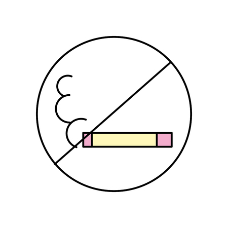 no smoking isolated icon vector illustration design