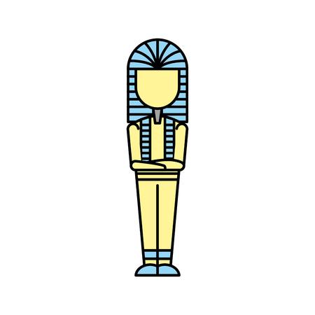 古代エジプトの墓のアイコン ベクトル イラスト デザイン