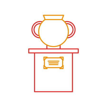 Vieux vase de musée sur la conception d'illustration vectorielle de colonne Banque d'images - 83946727