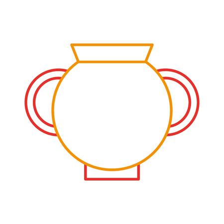 Vieux icône de vase de musée design d'illustration vectorielle Banque d'images - 83946728