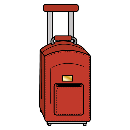 suitcase packing: suitcase travel isolated icon vector illustration design