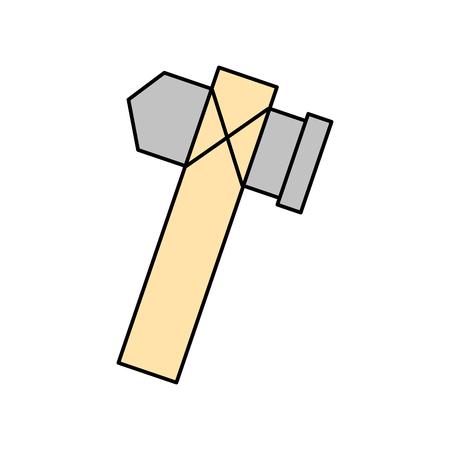 구석기 도끼 절연 아이콘 벡터 일러스트 디자인 일러스트
