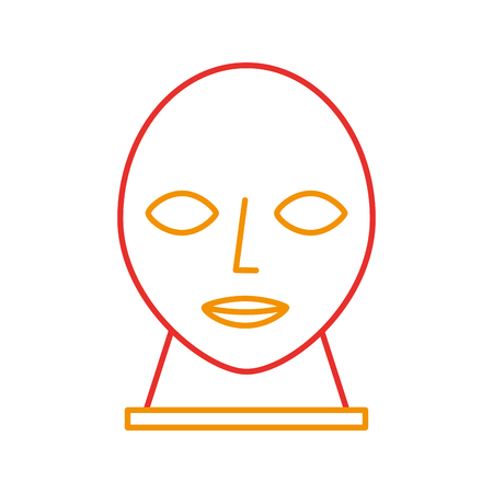 head sculpture museum icon vector illustration design Иллюстрация