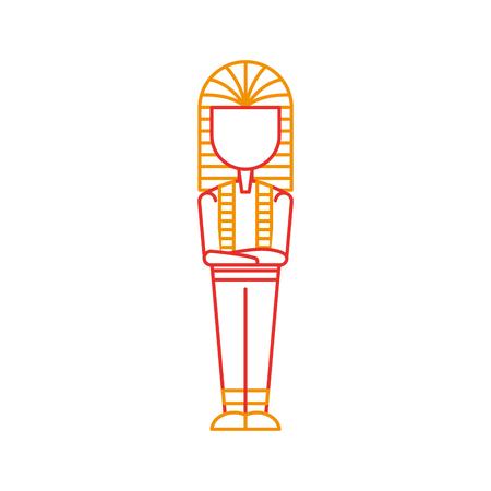Ancienne icône de conception de vecteur de tombeau égyptienne illustration Banque d'images - 83946729