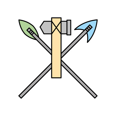 antique arrows and ax isolated icon vector illustration design Фото со стока - 83946849