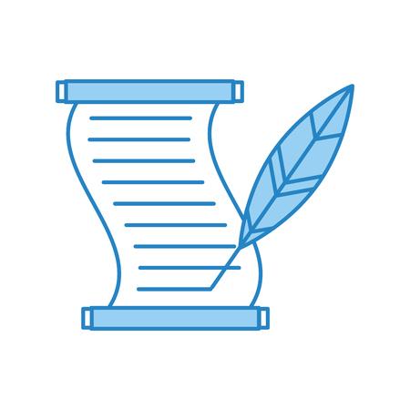 Musée papyrus avec la conception d'illustration vectorielle de plume Banque d'images - 83946851