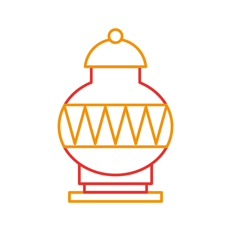 Old museum vase icon vector illustration design Illusztráció