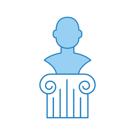 museum column isolated icon vector illustration design