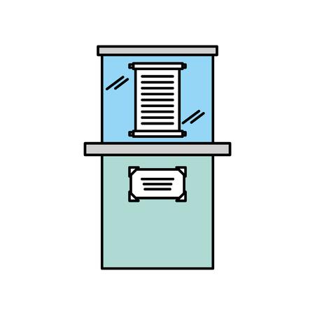 Papyrus de musée dans la conception d'illustration vectorielle en verre urne Banque d'images - 83946936