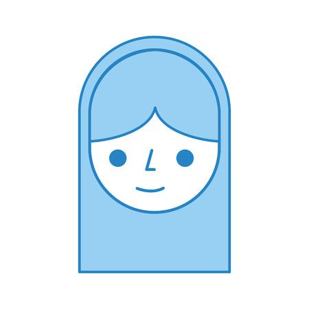hair style: cute woman avatar character vector illustration design