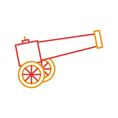 Vecchio cannone isolato illustrazione vettoriale illustrazione Archivio Fotografico - 83946760
