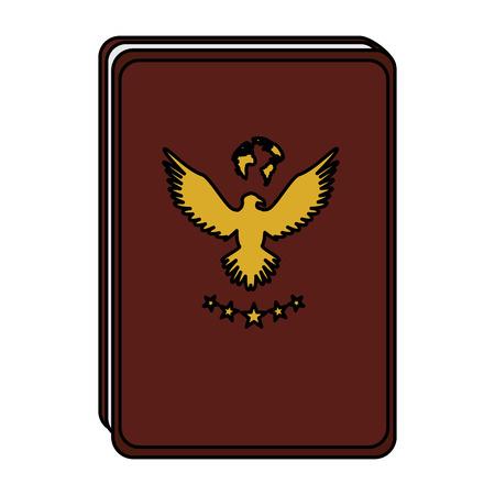 Documento passaporto isolato icona illustrazione vettoriale di progettazione Archivio Fotografico - 83946748
