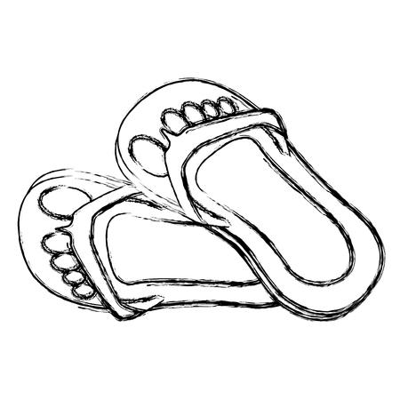 플립 플롭 격리 된 아이콘 벡터 일러스트 레이 션 디자인