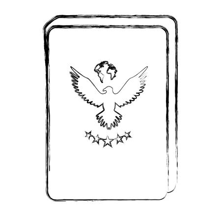 Documento de pasaporte aislado icono de ilustración vectorial de diseño Foto de archivo - 83946866