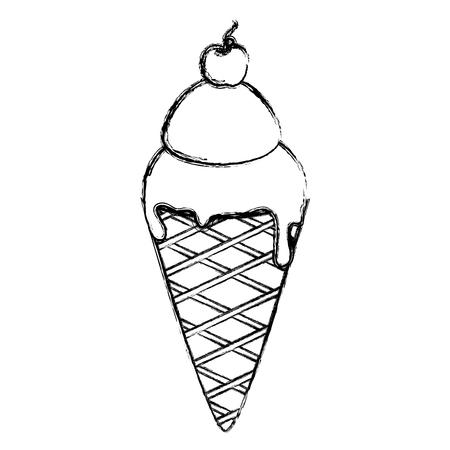 Delicious ice cream isolated icon vector illustration design