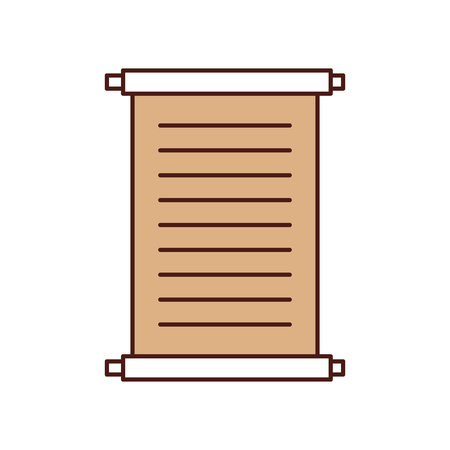 Museum papyrus isolated icon vector illustration design