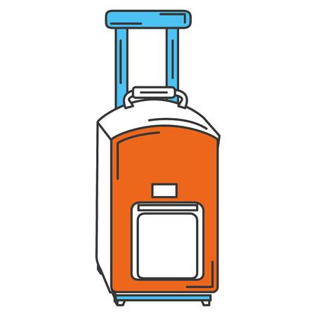 Voyage valise icône isolé design illustration vectorielle Banque d'images - 83946978