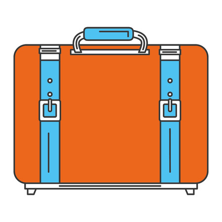 case: suitcase travel isolated icon vector illustration design