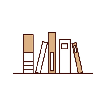 Old book of library vector illustration design Ilustracja