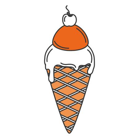 Lekker ijs geïsoleerd icon pictogram vector illustratie ontwerp Stock Illustratie