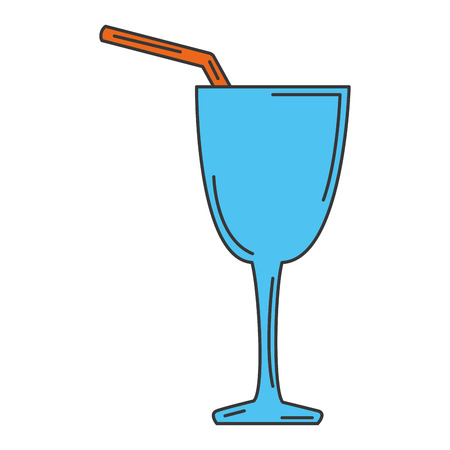 ice: cocktail cup isolated icon vector illustration design