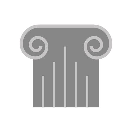 museum kolom geïsoleerd pictogram vector illustratie ontwerp Stock Illustratie