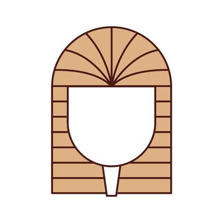 고 대 이집트 무덤 아이콘 벡터 일러스트 디자인