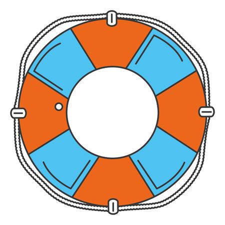 Flotteur sauveteur icône isolé illustration vectorielle conception Banque d'images - 83947816