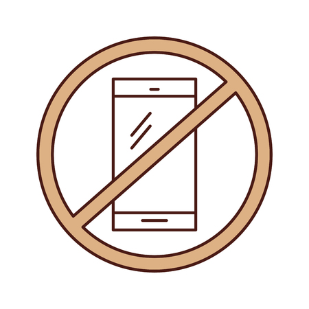 responsive: Forbidden to use cell phones vector illustration design Illustration