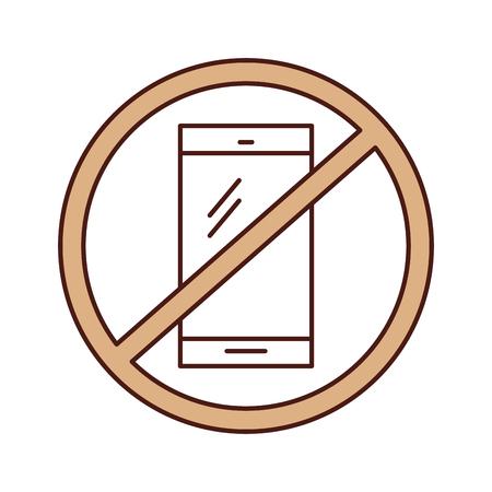 Forbidden to use cell phones vector illustration design Illustration