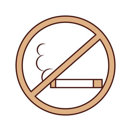 Aucun fumeur isolé icône du design illustration vectorielle Banque d'images - 83947818