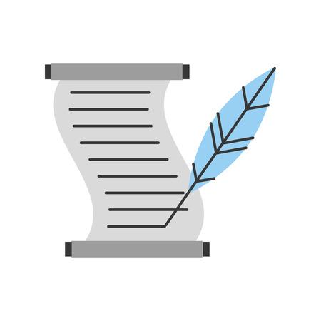Musée papyrus avec la conception d'illustration vectorielle de plume Banque d'images - 83947489
