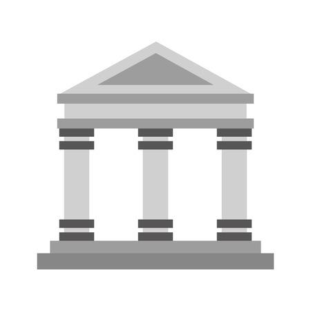 Museumgebouw geïsoleerd pictogram vector illustratie ontwerp
