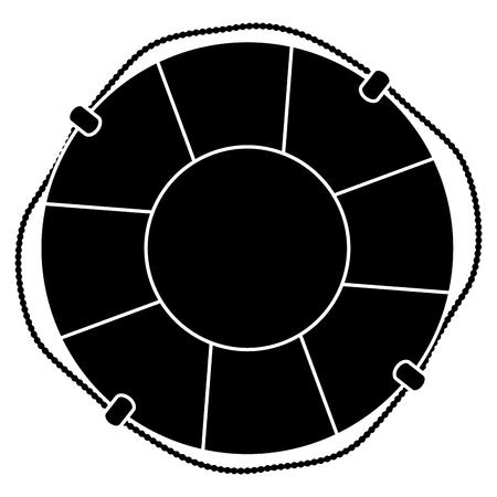 Float badmeester geïsoleerd pictogram vector illustratie ontwerp Stock Illustratie