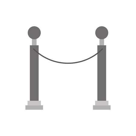 Museum tape isolated icon vector illustration design