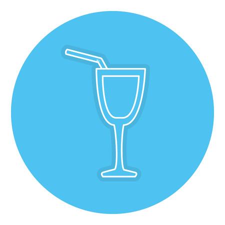 カクテル カップ分離アイコン ベクトル イラスト デザイン