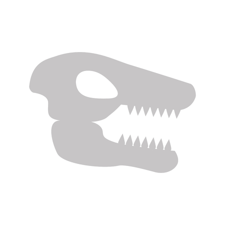 Museum dinosaur skeleton icon vector illustration design Stock fotó - 83947611