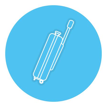 suitcase packing: Suitcase travel isolated icon vector illustration design Illustration