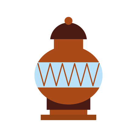 Vieux icône de vase de musée design d'illustration vectorielle Banque d'images - 83947687
