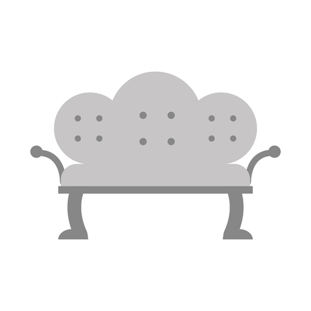 luxury room: Antique sofa isolated icon vector illustration design