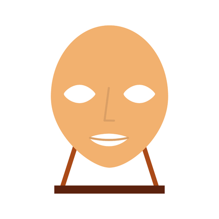 head sculpture museum icon vector illustration design 向量圖像