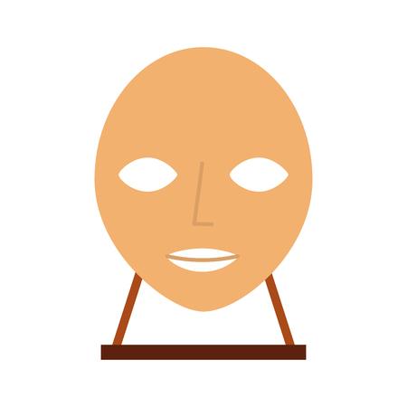 head sculpture museum icon vector illustration design Illustration