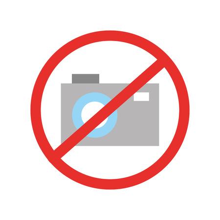 Forbidden to take photos vector illustration design