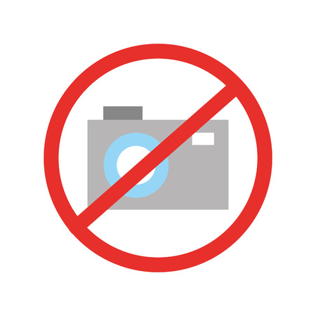 Forbidden to take photos vector illustration design