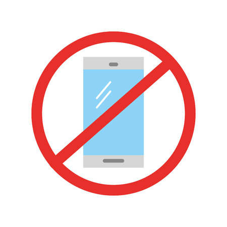 Interdit à utiliser les téléphones cellulaires vecteur illustration design Banque d'images - 83950699